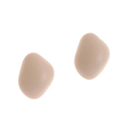 Jackie Brazil Matt Finish Abstract Diamond Stud Earrings in Boheme Natural Beige